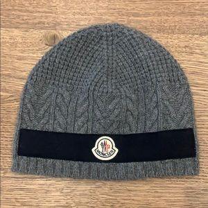 Moncler Wool Beanie Grey
